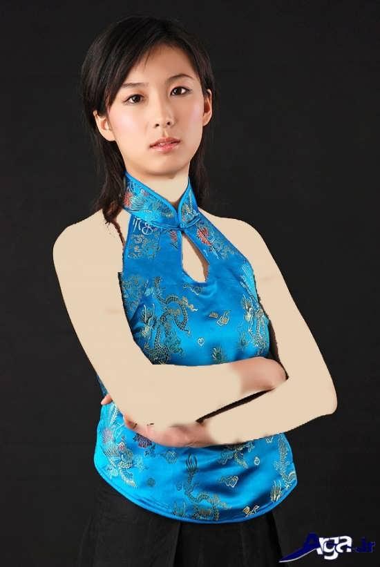 مدل تاپ زنانه آبی مجلسی