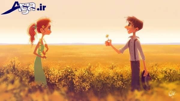 عکس های عاشقانه جدید کارتونی