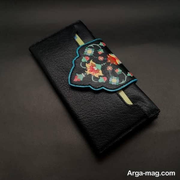 نقاشی روی چرم با طرح های اسلیمی