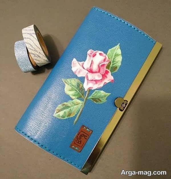 کشیدن نقاشی کیف چرم به شکل بی نظیر