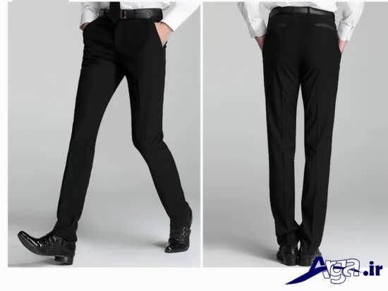 مدل شلوار مردانه مشکی پارچه ای