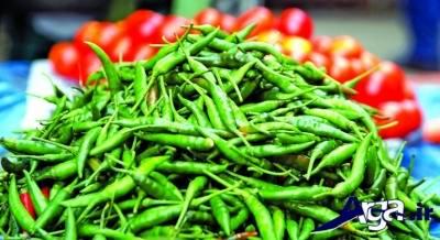 بیماری های قابل درمان با فلفل سبز