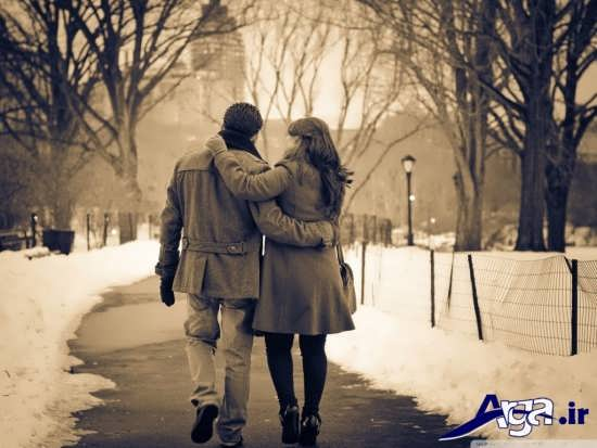 عکس سیاه و سفید رمانتیک