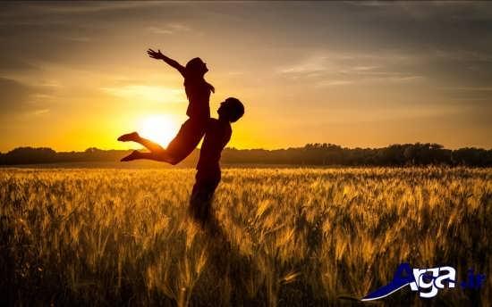 عکس های عاشقانه و رمانتیک در گندم زارها