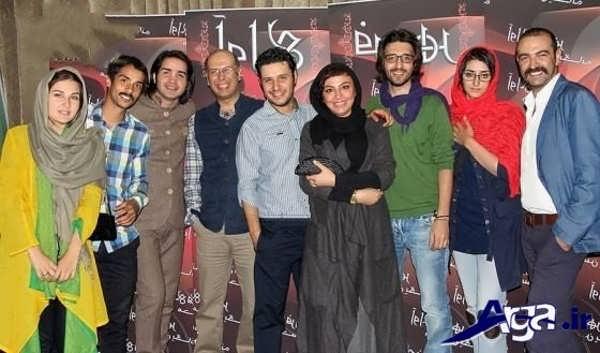 عکس های ساعد سهیلی و همسرش در جمع بازیگران