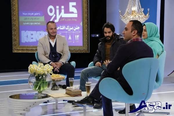 عکس های ساعد سهیلی و همسرش در برنامه تلویزیونی