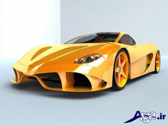 عکس ماشین اسپرت زرد
