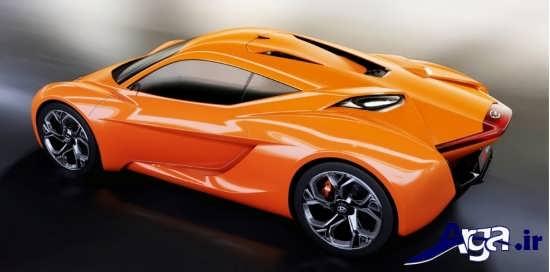 ماشین اسپرت نارنجی