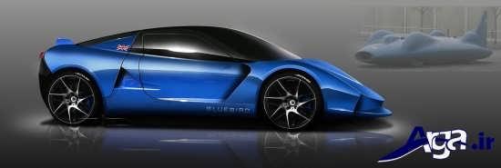 ماشین اسپرت آبی