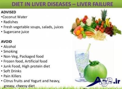 مواد غذایی مضر برای کبد