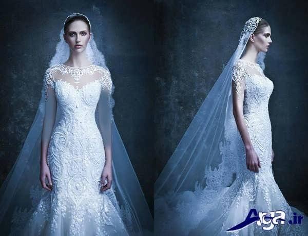 مدل لباس عروس گیپور ماهی