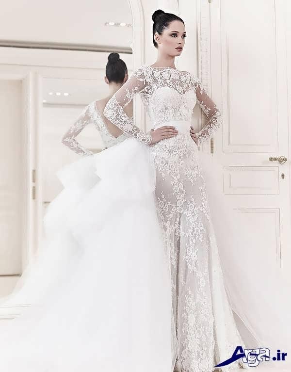 لباس عروس گیپور فوق العاده زیبا