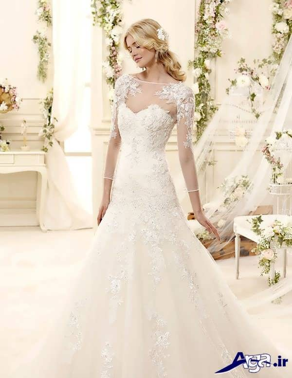 لباس عروس گیپور فوق العاده شیک