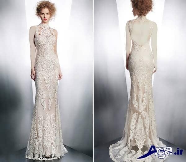 لباس عروس گیپور ساده و شیک