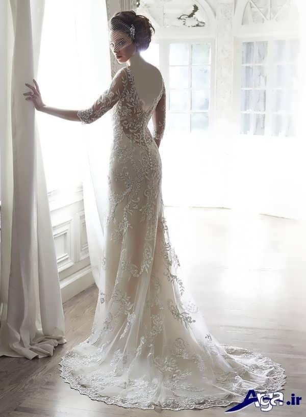 مدل لباس عروس گیپور شیک