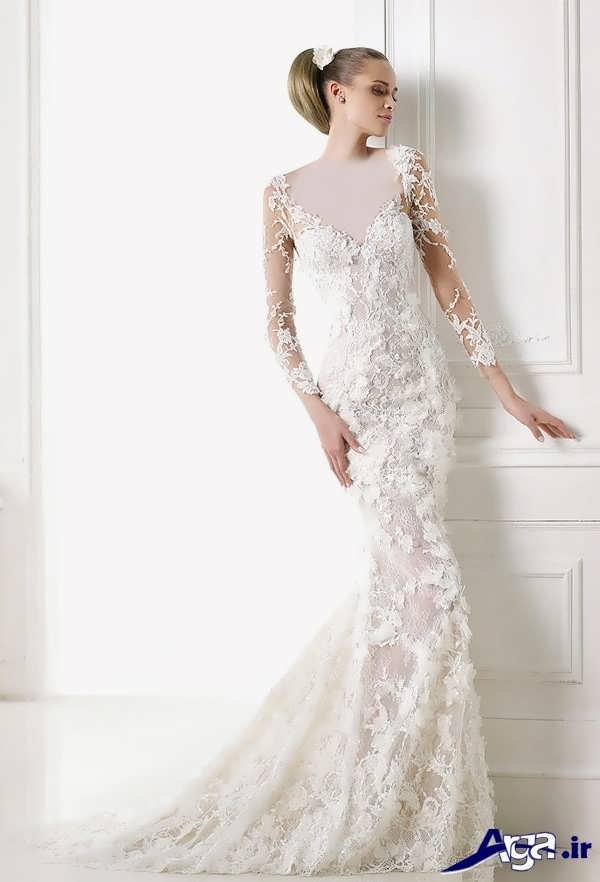 مدل لیاس عروس گیپور جذاب