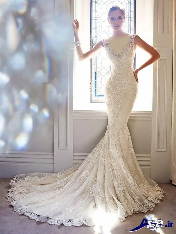 مدل لباس عروس گیپور مدل ماهی