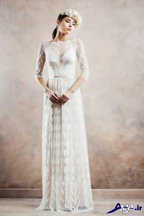 مدل لباس عروس گیپور سنتی