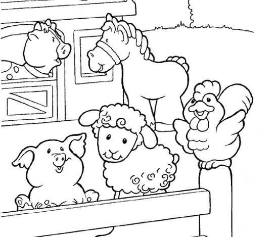 نقاشی حیوانات زیبا و کودکانه