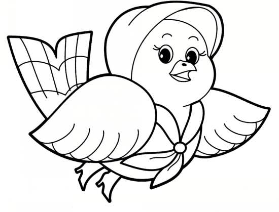 نقاشی پرنده برای کودکان