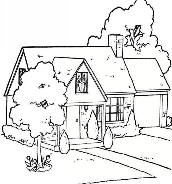 نقاشی خانه کودکانه