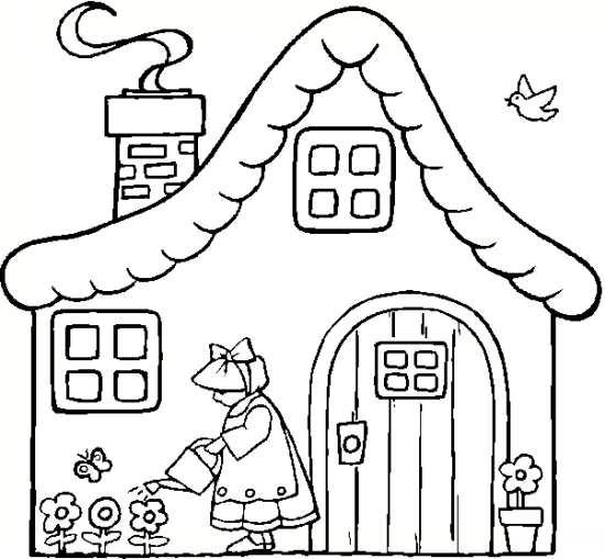 نفاشی کلبه برای کودکان