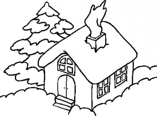 مدل نقاشی خانه و کلبه