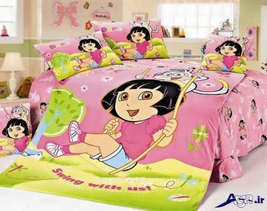 روتختی برای تخت نوزاد دختر