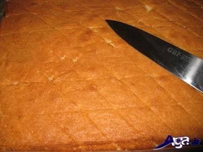 برش دادن کیک باقلوا