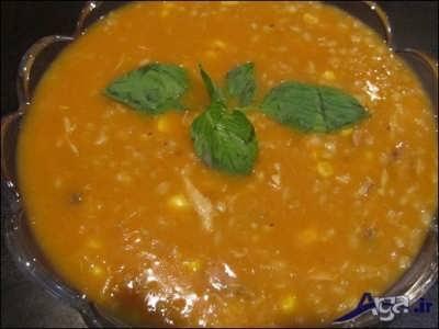 سوپ جوی قرمز