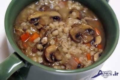 طرز تهیه سوپ جو با قارچ