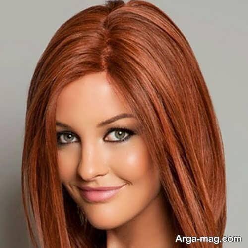 رنگ موی قهوه ای جذاب