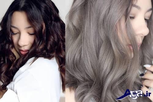 فرمول رنگ موی قهوه ای خاکستره