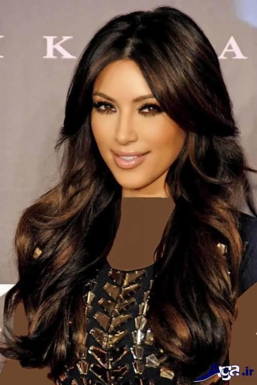 رنگ موی قهوه ای زیبا
