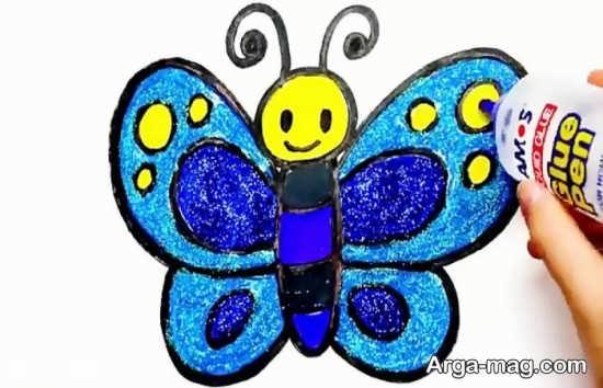 رنگ آمیزی پروانه