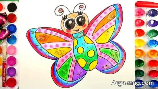طراحی پروانه و رنگ آمیزی آن