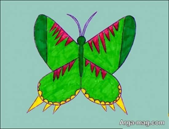 طراحی ساده پروانه