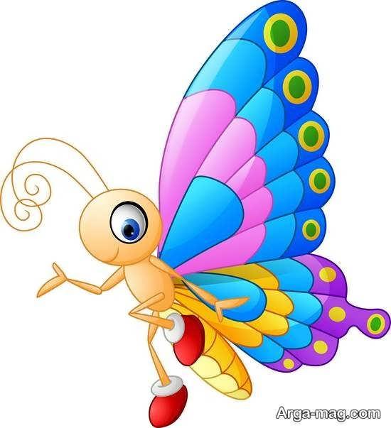 مدلهایی زیبا از رنگ آمیزی پروانه