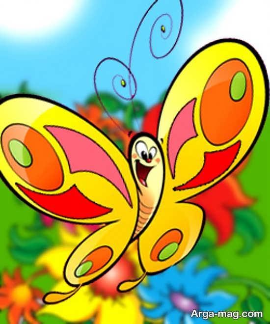 تصاویری از طراحی پروانه زیبا