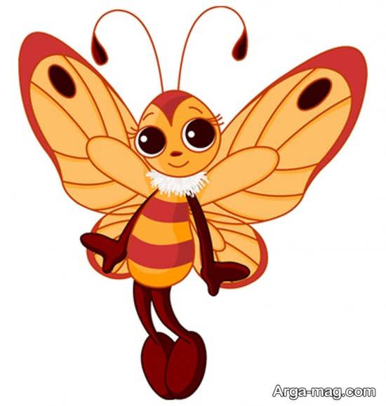 طراحی پروانه کارتونی