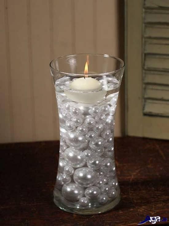 وسایل تزیینی با مروارید تزیین شمع با مروارید و انواع شمع آرایی های زیبا با مروارید
