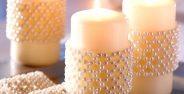 تزیین شمع با مروارید