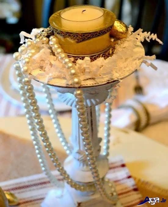 تزیین شمع و شمع آرایی با مروارید