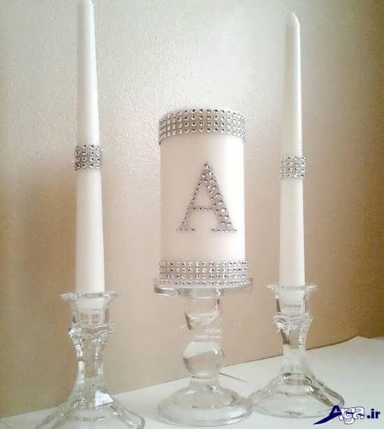 تزیین شمع ساده با مروارید های زیبا