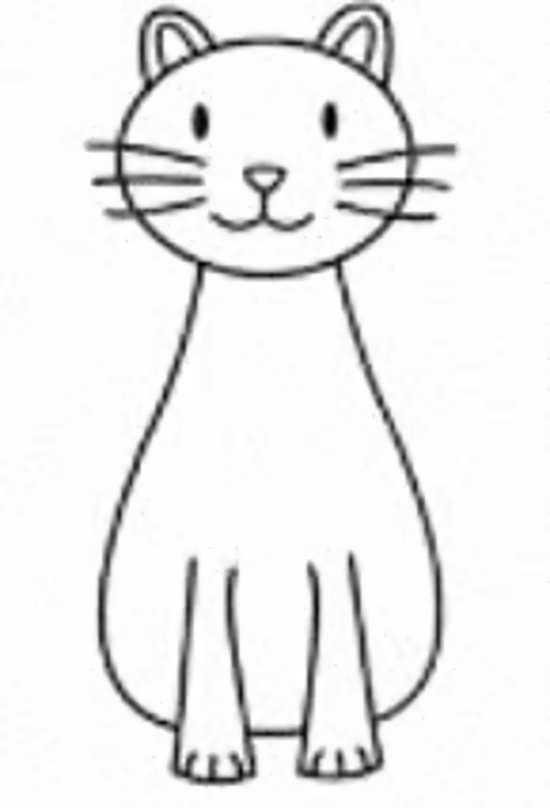 طراحی گربه کارتونی
