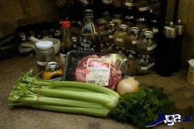مواد لازم برای تهیه خورش کرفس