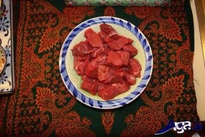 گوشت تکه تکه شده