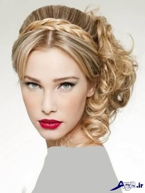 آرایش موی فر جذاب