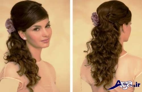 مدل شینیون موی باز برای عروس