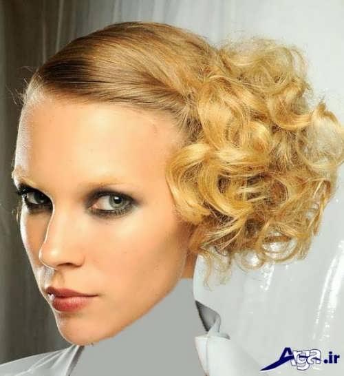 شینیون برای موهای کوتاه دخترانه